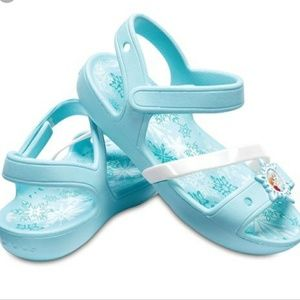 Frozen Croc Sandals Ice Blue